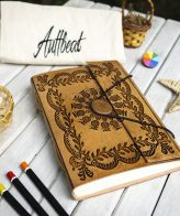 Buy Handmade Leather Journal With Mandala Art Engraving online