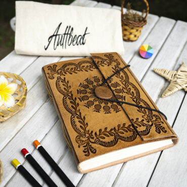Buy Handmade Leather Journal With Mandala Art Engraving online