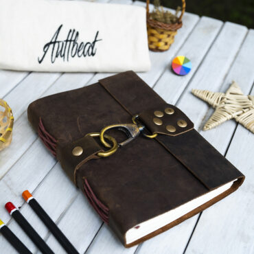 Buy Handmade Leather Journal with Brass Hook Lock online