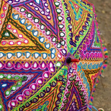 Buy Handmade Decorative Kutch Embroidery Parasol Umbrella Online