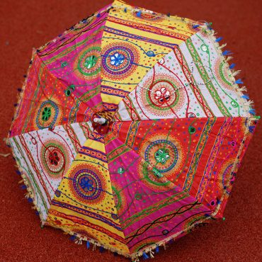 Buy Handcrafted Decorative Multi Embroidery Parasol Umbrella Online