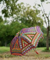 Order Handmade Decorative Kutch Embroidery Parasol Umbrella Online