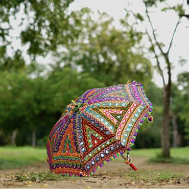 Buy Decorative Handmade Kutch Embroidery Parasol Umbrella online
