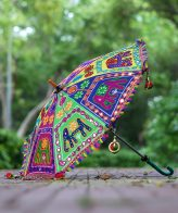 Buy Decorative Handmade Elephant Embroidery Parasol Umbrella online