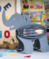 Buy Elephant Shape Table and Floor Lamp online