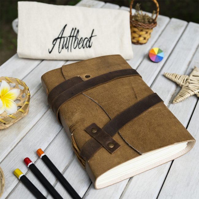 Buy Handmade Leather Journal with Leather Belt Closure online
