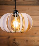 Buy Pumpkin Shape Hanging Wooden Lamp online
