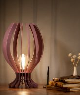 Buy Lotus Bud Shape Wooden Floor Lamp online