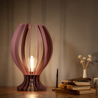 Buy Lotus Bud Shape Wooden Floor Lamp online