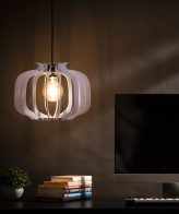 Buy Pomegranate Shape Wooden Hanging Lamp online