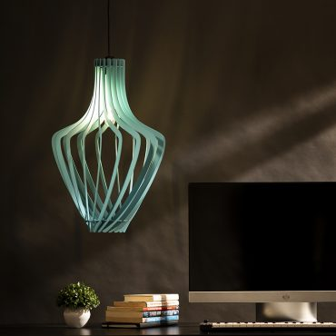 Buy Pot Shape Wooden Pendant Hanging Lamp online