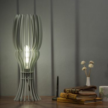 Buy Tulip Shape Wooden Floor Lamp online