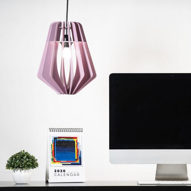 Buy Water Drop Shape Hanging Wooden Lamp online