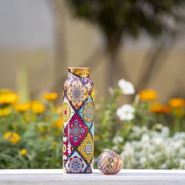 Best Handmade Mandala Design Copper Water Bottle