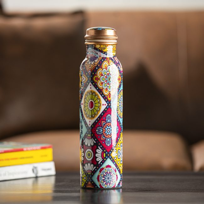 Best Handmade Mandala Design Best Copper Water Bottle