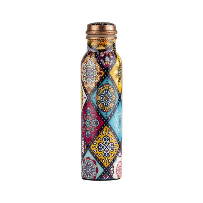 Best Handmade Mandala Design Copper Bottle