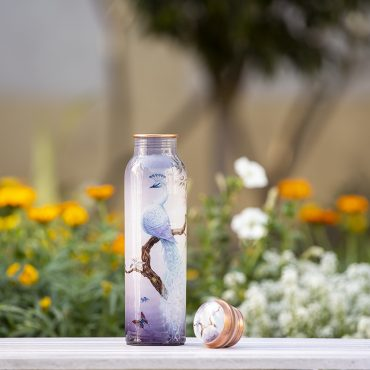 Peacock Design Copper White Water Bottle Online