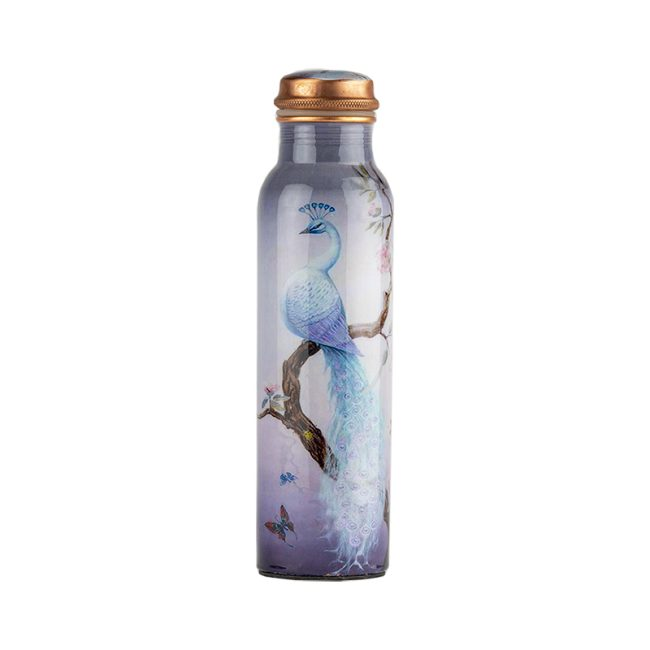 Pure Copper White Water Bottle Online
