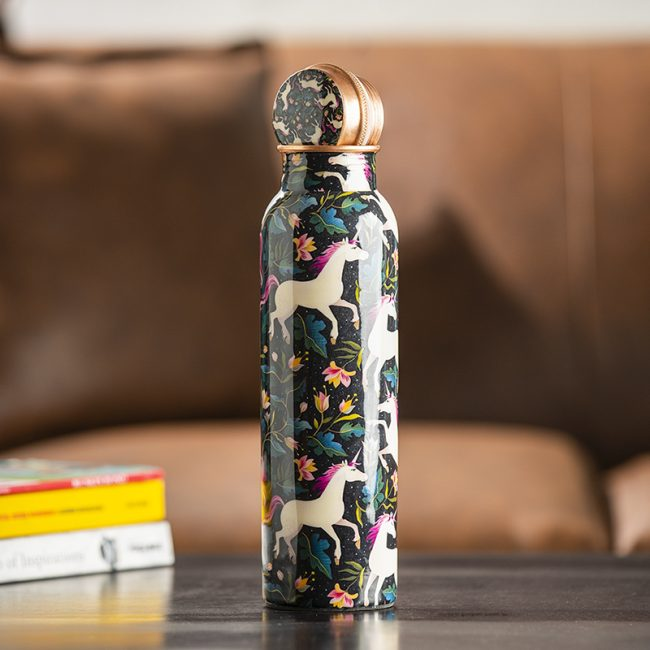 Handmade Unicorn Design Copper Water Bottle Online